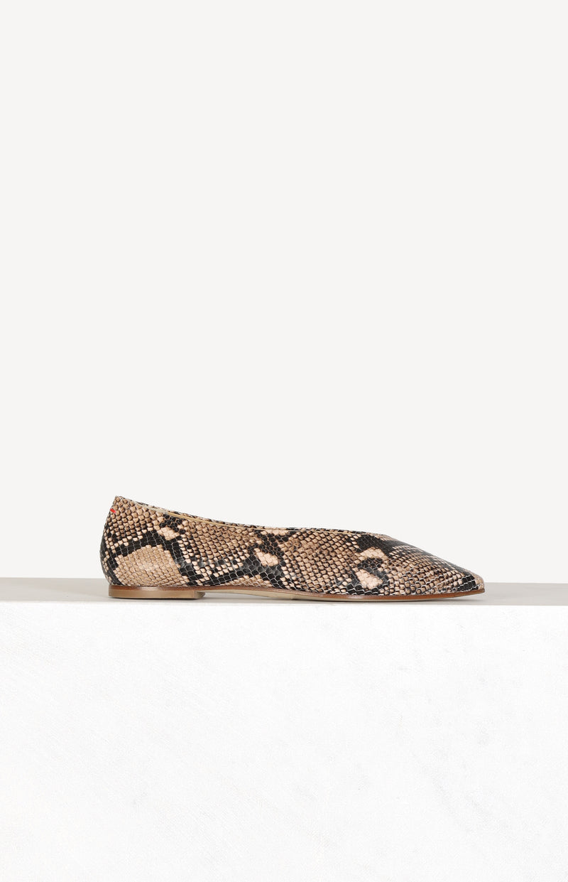 Loafer Betty mit Schlangen-Print in Naturalaeyde - Anita Hass