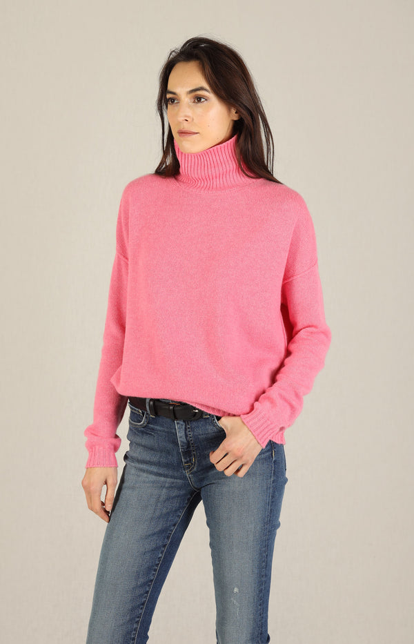 Pullover Exposed Roll Collar in CandyJumper1234 - Anita Hass