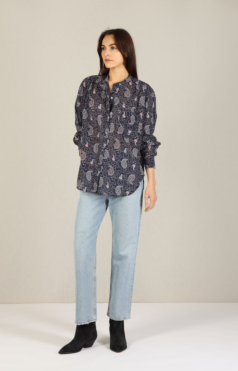 Bluse Mexika in Faded NightIsabel Marant Étoile - Anita Hass