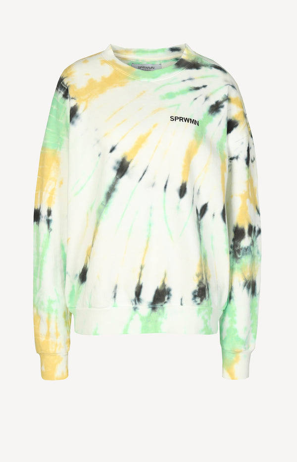Sweatshirt mit Logo in Faded GreenSPRWMN - Anita Hass