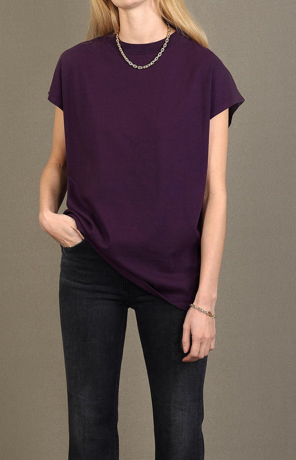 Boxy T-Shirt in AmethystAgolde - Anita Hass
