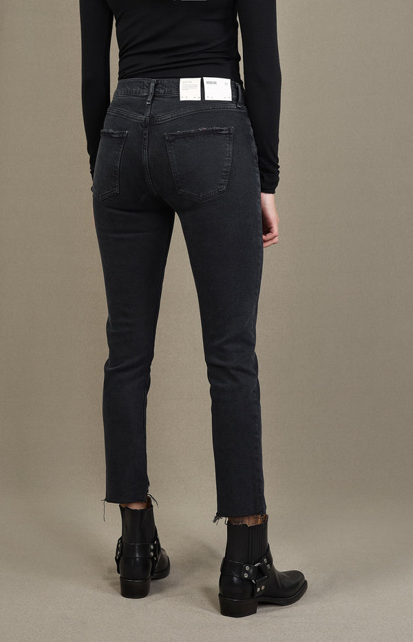 Jeans Toni Mid Rise Straight in FeralAgolde - Anita Hass