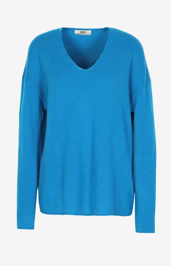 Pullover Pure V in CobaltSminfinity - Anita Hass