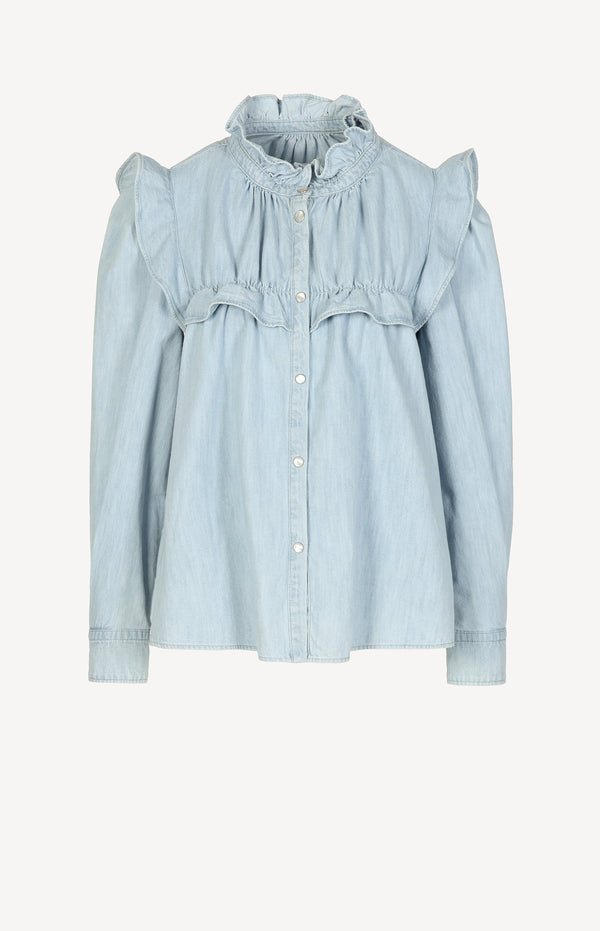Bluse Idety in Light BlueIsabel Marant Étoile - Anita Hass