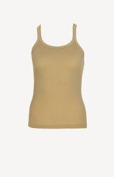 Ribbed Tank Top in SandRE/DONE - Anita Hass