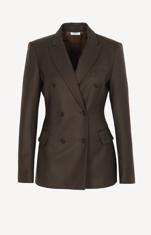 Blazer Liliuxy in Dark Brown