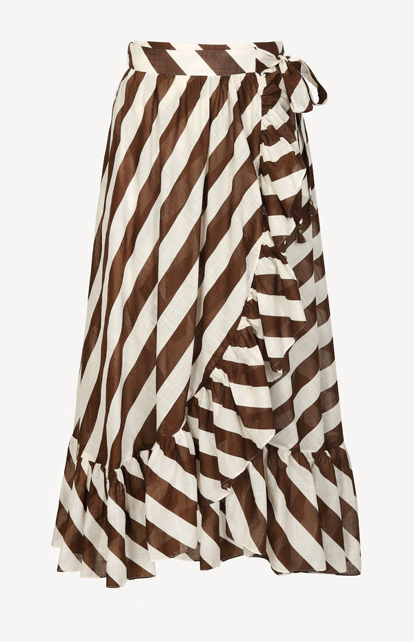 Rock Lulu Frill in Chocolate StripeZimmermann - Anita Hass