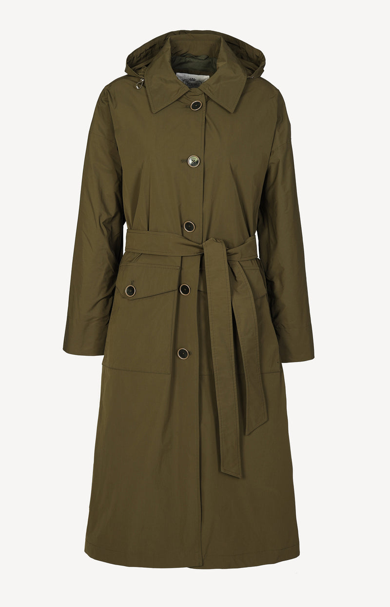 Trenchcoat in MilitareHerno - Anita Hass