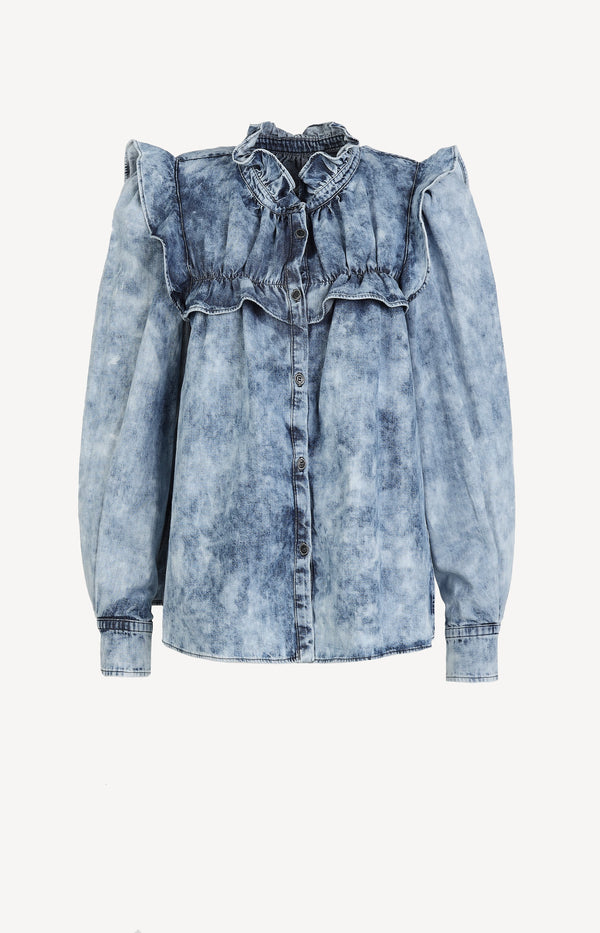 Bluse Idety in BlauIsabel Marant Étoile - Anita Hass