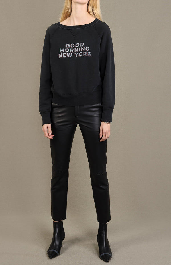 Pullover Good Morning New York in Schwarz/RotNili Lotan - Anita Hass