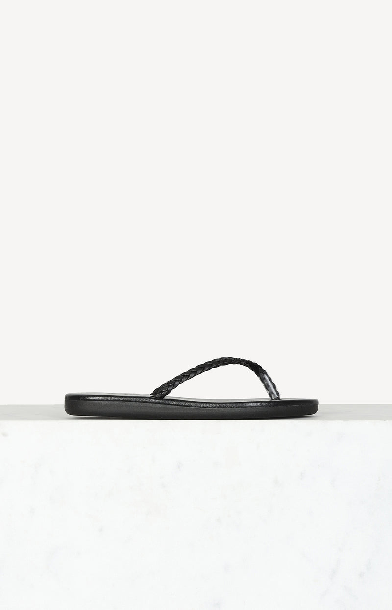 Flip Flops Plage in SchwarzAncient Greek Sandals - Anita Hass