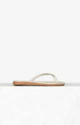 Flip Flops Plage in All PlatinumAncient Greek Sandals - Anita Hass