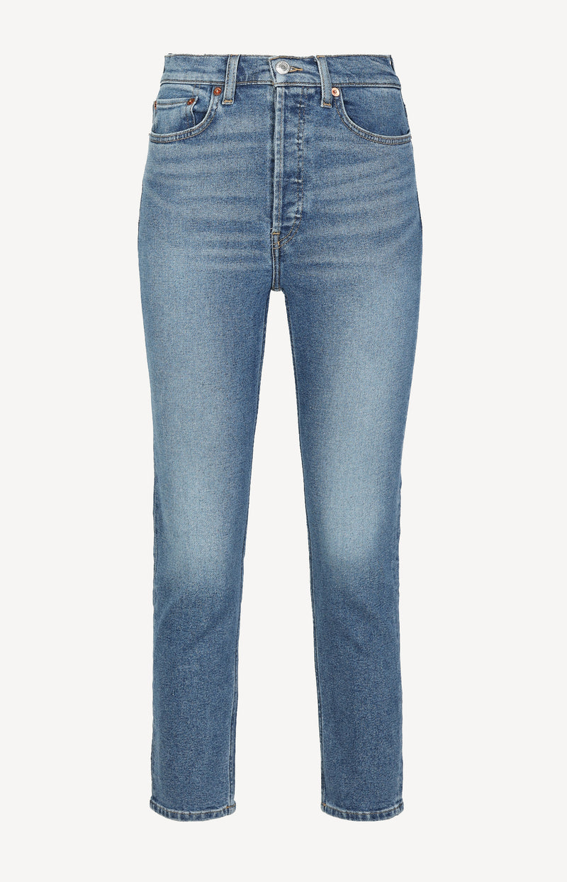 Jeans 90s High Rise Ankle Crop in Medium 27RE/DONE - Anita Hass