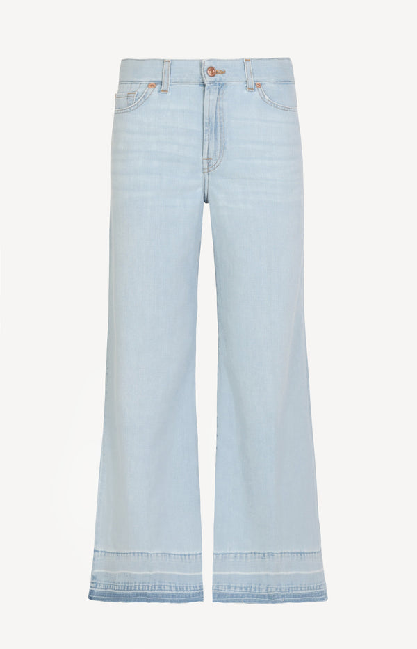 Jeans Lotta Cropped Unrolled in Powder Blue7 For All Mankind - Anita Hass