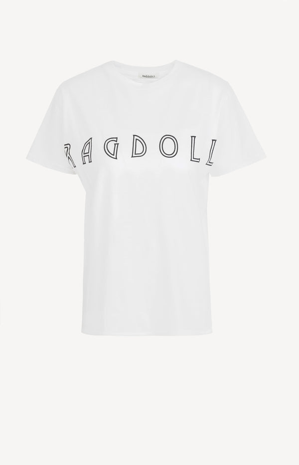 T-Shirt Easy Distressed in Optic WhiteRagdoll - Anita Hass