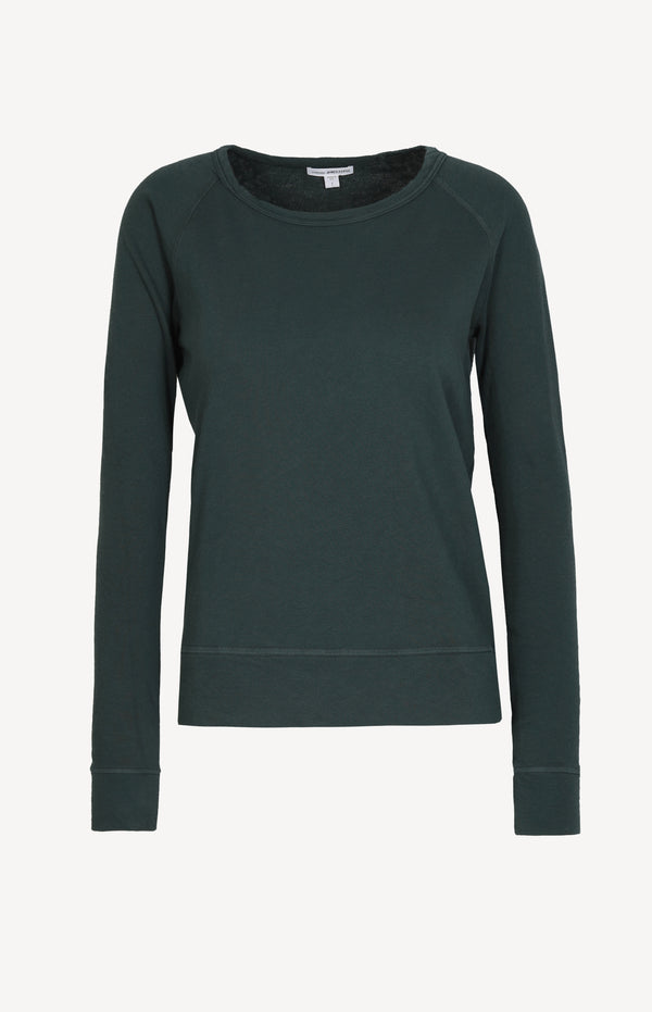 Sweatshirt Classic in Canopy GrünJames Perse - Anita Hass