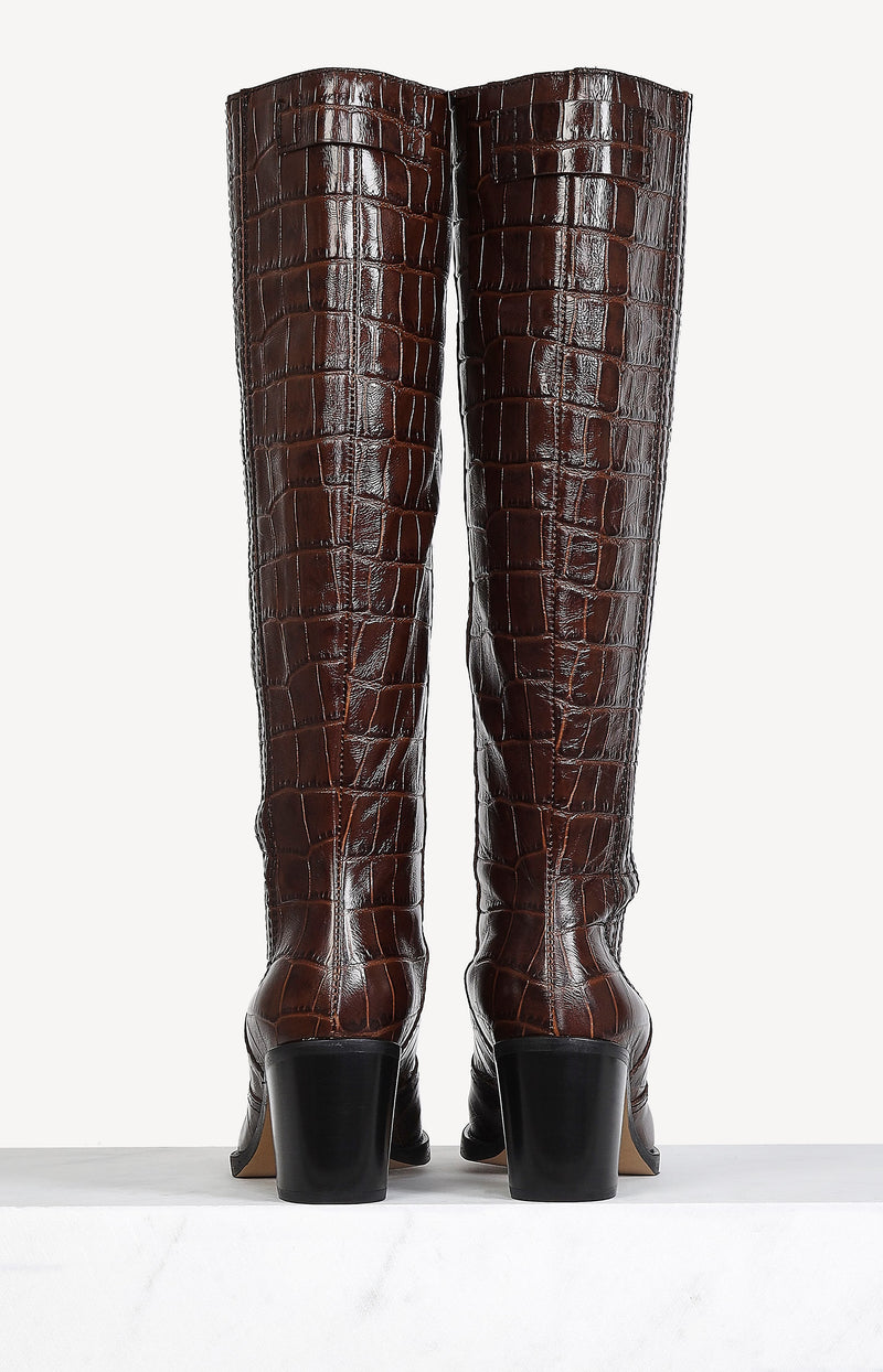 Stiefel Western Knee High in Chicory CoffeeGanni - Anita Hass