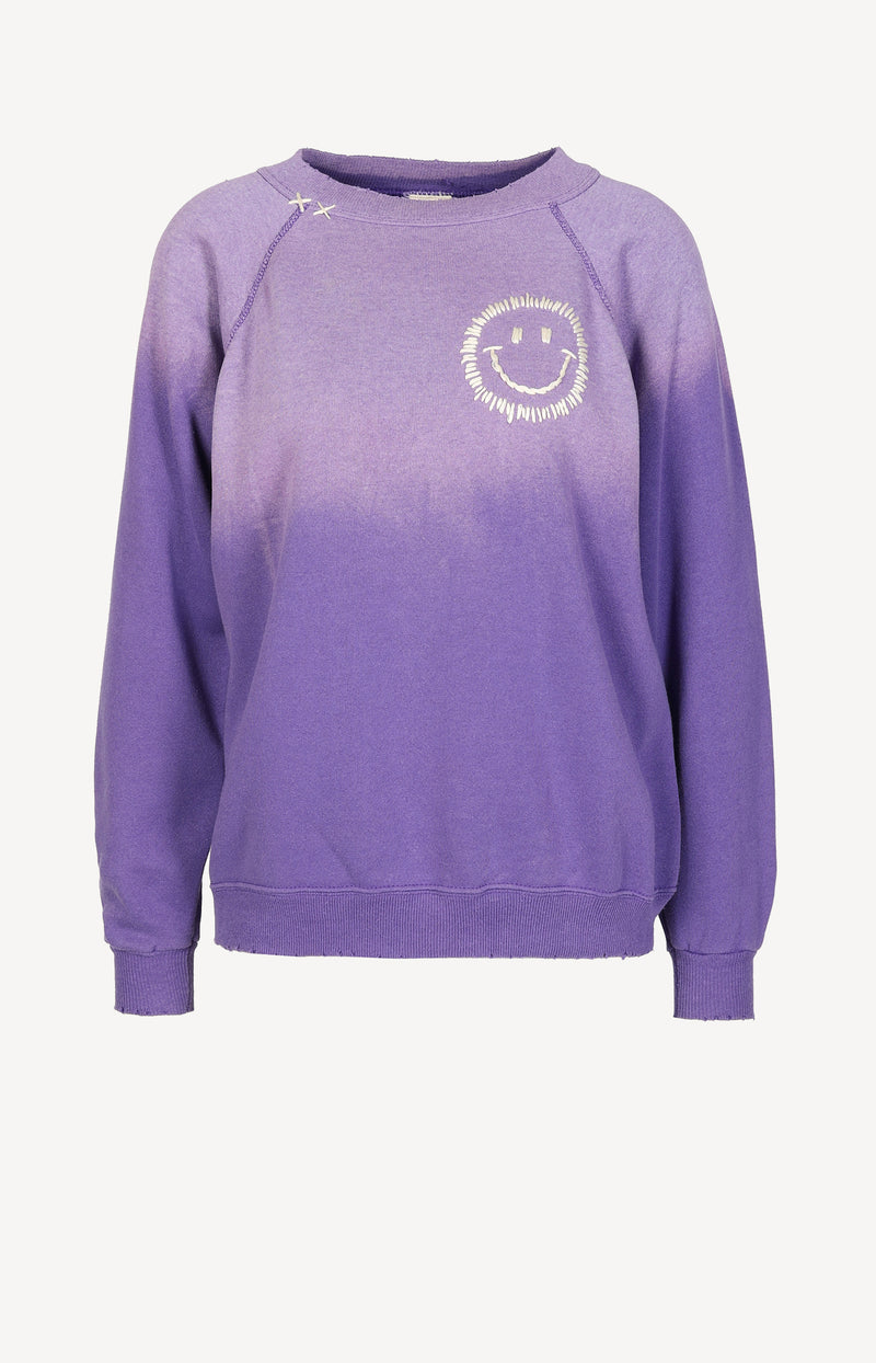 Vintage Sweatshirt Smiley in LilaI Stole My Boyfriend's Shirt - Anita Hass