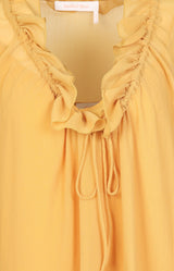 Rüschenbluse in Bright GoldSee by Chloé - Anita Hass
