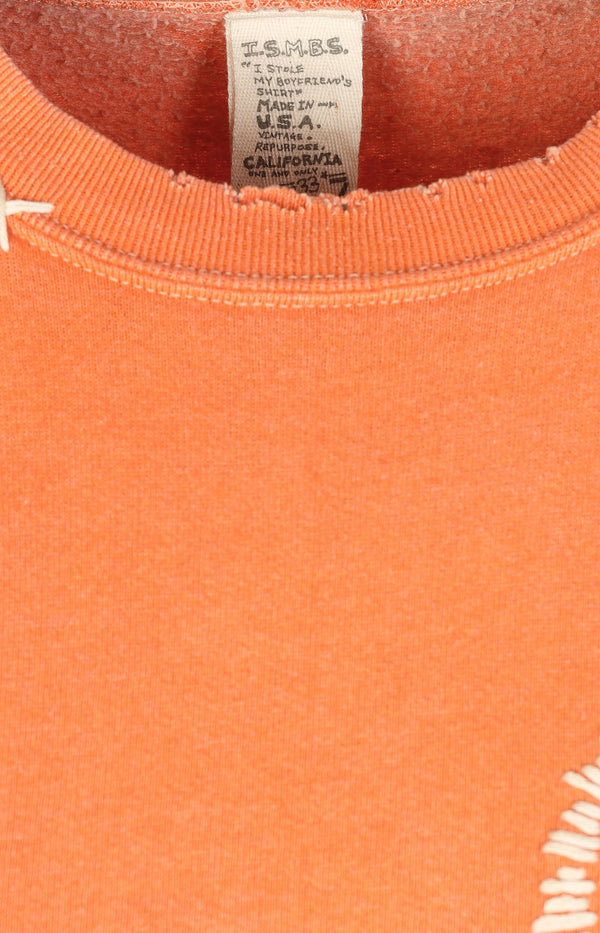 Vintage Sweatshirt Smiley in OrangeI Stole My Boyfriend's Shirt - Anita Hass