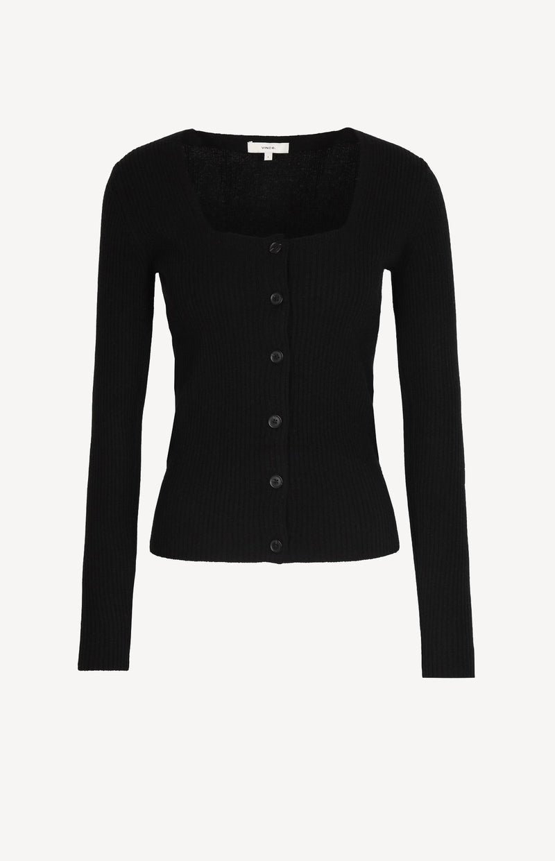 Square Neck Cardigan in SchwarzVince - Anita Hass