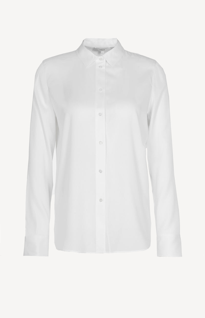 Bluse aus Stretch-Seide in Optic WhiteVince - Anita Hass