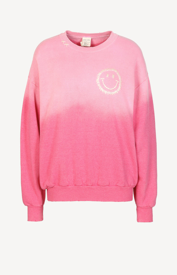 Vintage Sweatshirt Smiley in PinkI Stole My Boyfriend's Shirt - Anita Hass