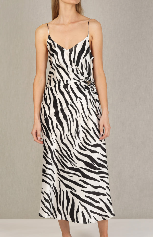 Cami Kleid Orbit in Brushed ZebraChristopher Esber - Anita Hass