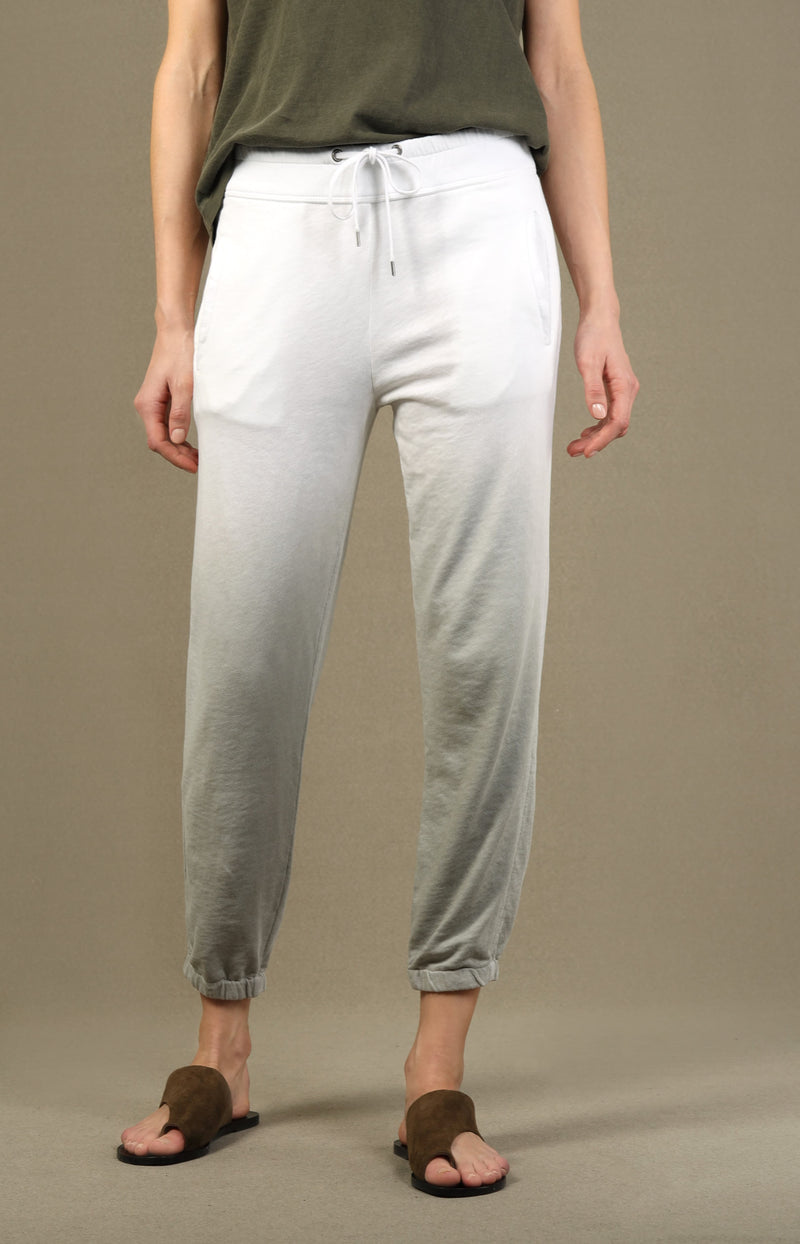 Sweatpants Spray Dyed in Salt/WeißJames Perse - Anita Hass