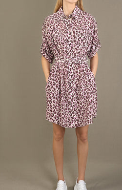 Kleid Silk Safari Mini in Candy LeopardZimmermann - Anita Hass