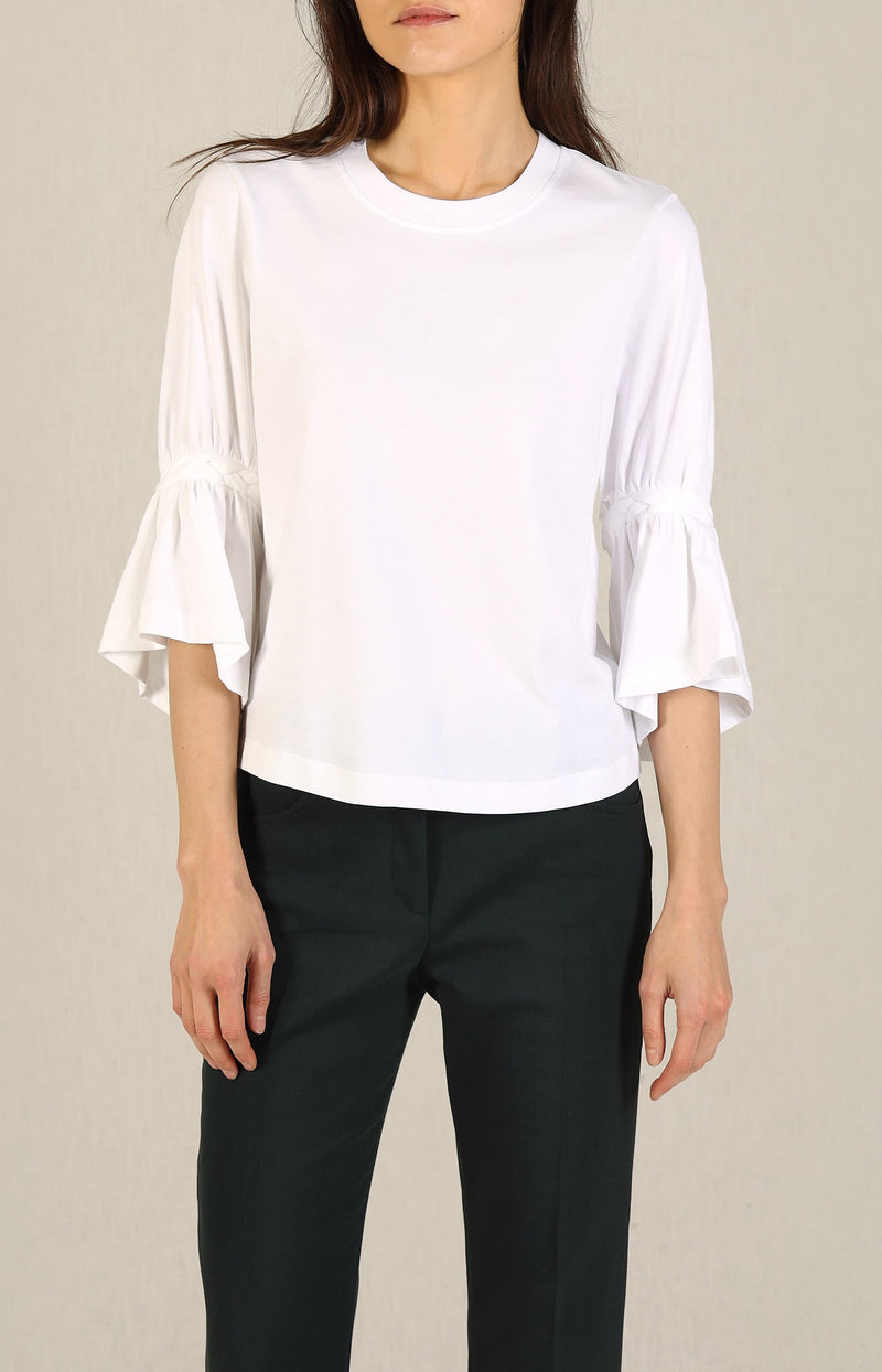 Shirt mit Flecht-Details in White PowderSee by Chloé - Anita Hass