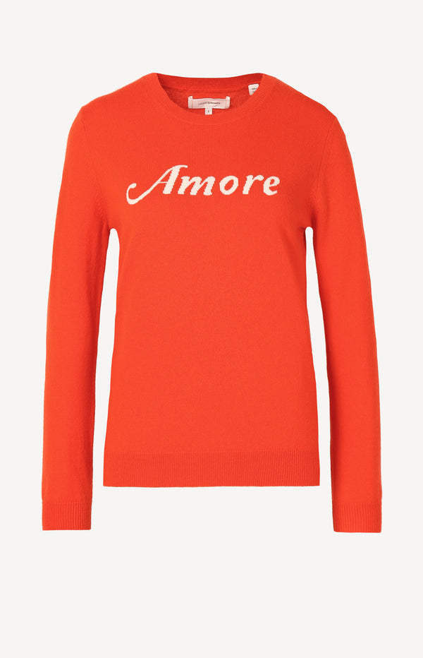 Pullover Amore in Vermillion