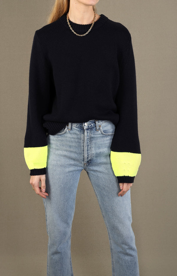 Pullover Pop Cuff in Navy/NeonChinti and Parker - Anita Hass
