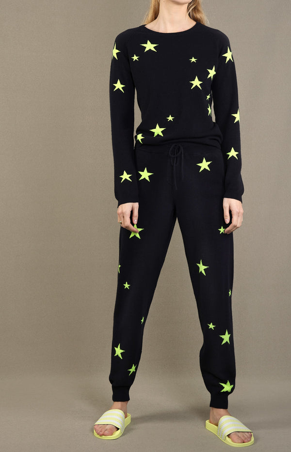 Trackpants Star aus Kaschmir in Navy/NeonChinti and Parker - Anita Hass