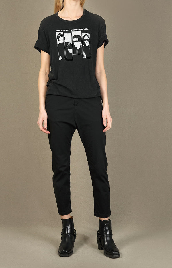 T-Shirt Velvet Underground Group in Acid BlackR13 - Anita Hass