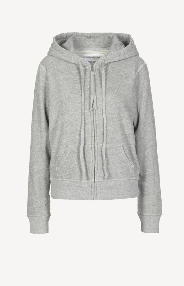 Hoodie Callie Zip Up in Heather GreyNili Lotan - Anita Hass