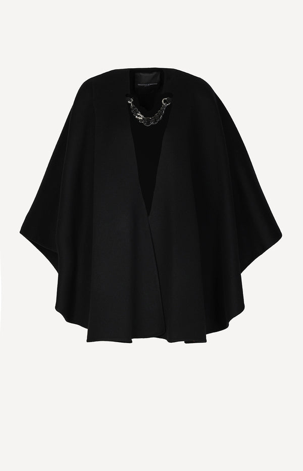 Cape mit Kettendetail in SchwarzErmanno Scervino - Anita Hass