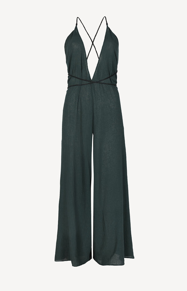Jumpsuit Pakkun in Hunter GreenCaravana - Anita Hass