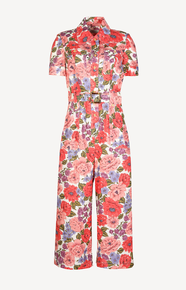 Jumpsuit Poppy Safari in Crimson FloralZimmermann - Anita Hass
