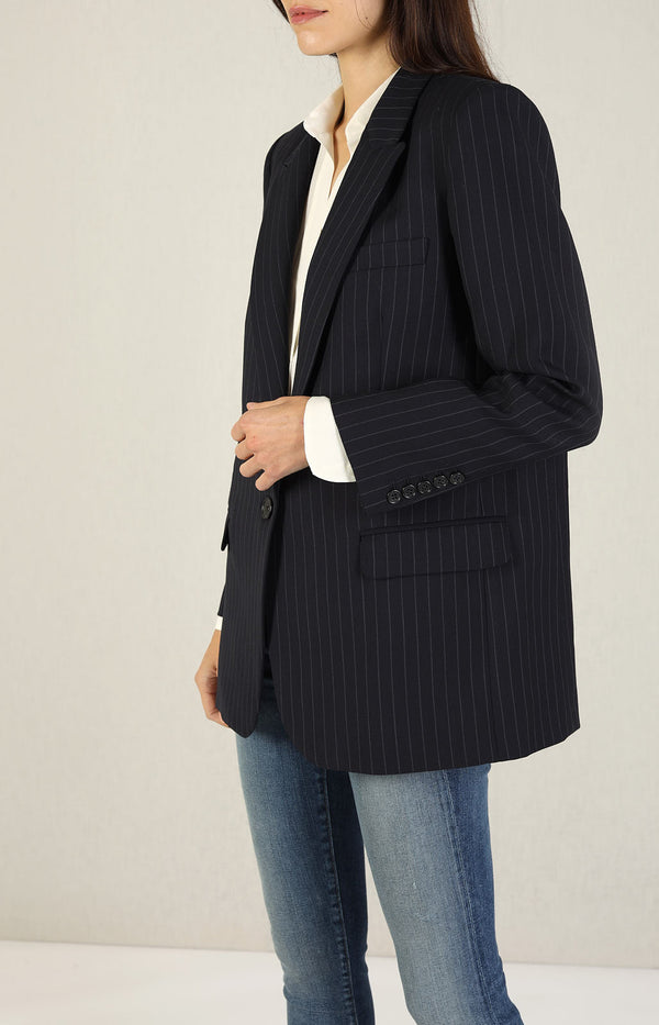 Blazer Diane in Midnight/Natural StripeNili Lotan - Anita Hass