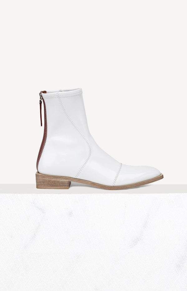 Flache Ankle Boots in WeißFendi - Anita Hass