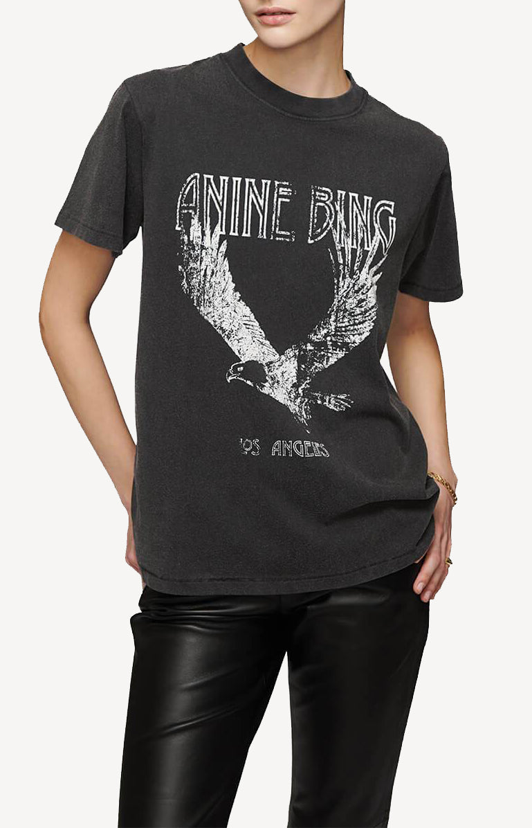 T-Shirt Lili Washed Black EagleAnine Bing - Anita Hass
