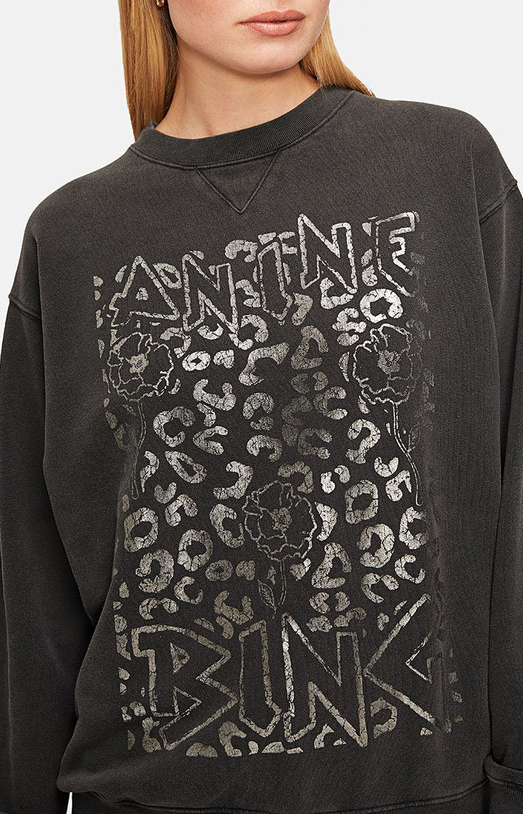 Sweatshirt Ramona in Leopard/Washed BlackAnine Bing - Anita Hass