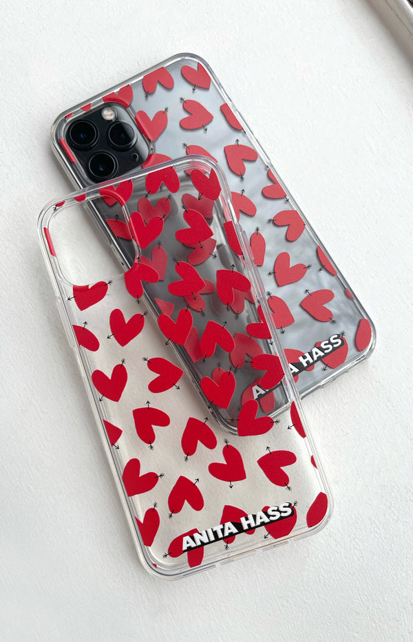 iPhone Hülle Transparent Hearts