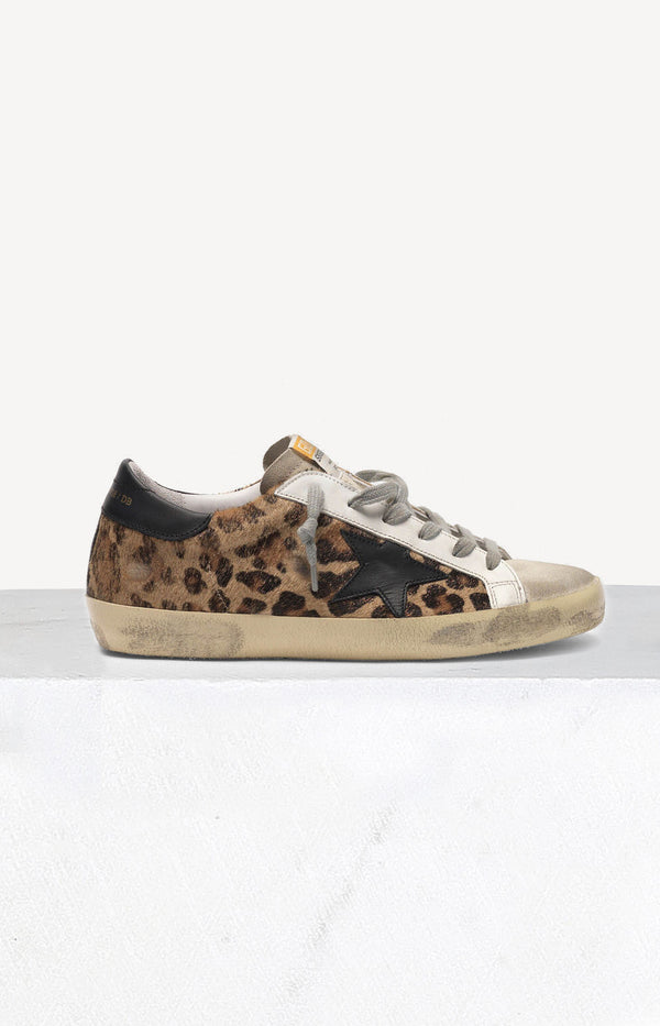 Sneaker Superstar in Snow Leopard Black StarGolden Goose - Anita Hass