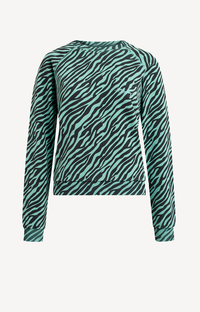Sweater Zebra GreenHey Honey - Anita Hass