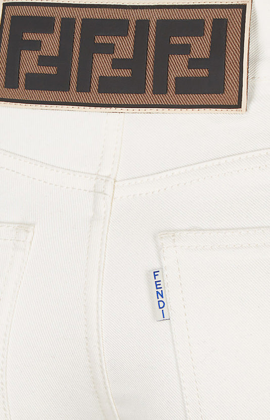 Jeans mit Logo-Patch WeißFendi - Anita Hass
