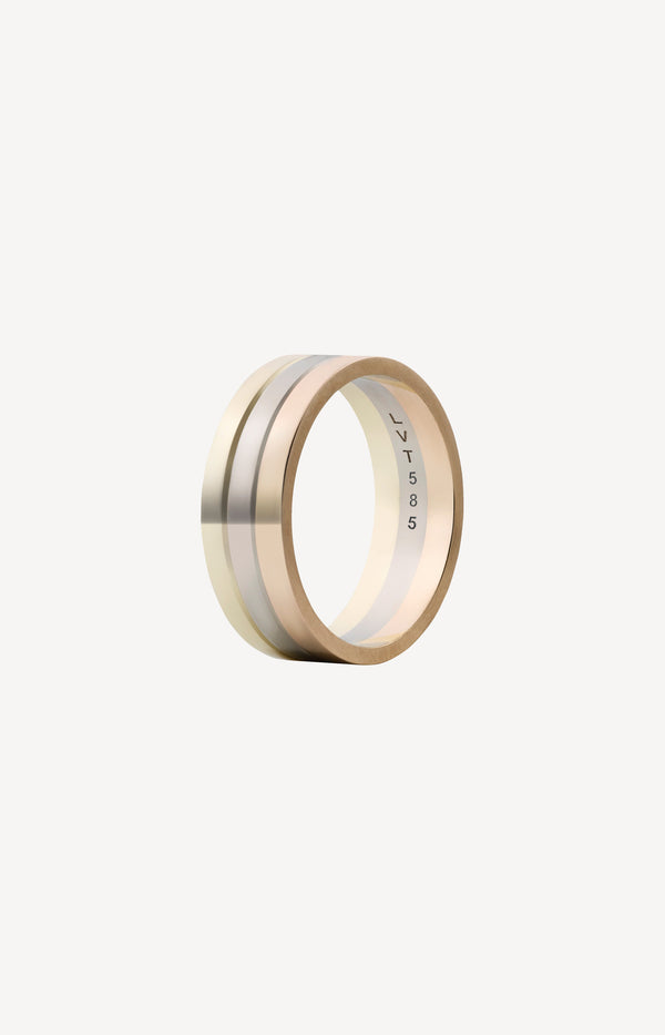 Ring Triple Slim One in TricoloreLilian von Trapp - Anita Hass