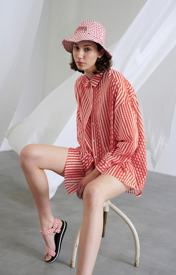 Bluse Bo in Beachstripes WatermelonLala Berlin - Anita Hass