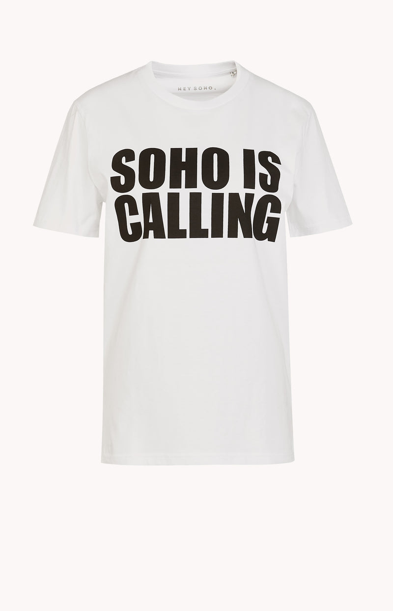 T-Shirt Soho is Calling WeißHey Soho - Anita Hass